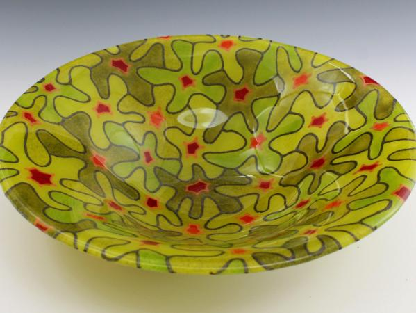 Lime Bouquet Bowl #39