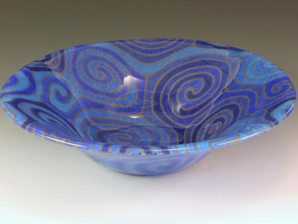 Blue Topo Bowl #75