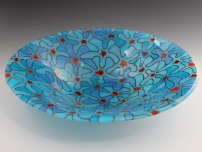 Blue Bouquet Bowl #30