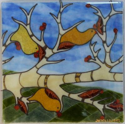 Winter Bird Panel