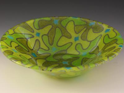 Lime Bouquet Bowl #54