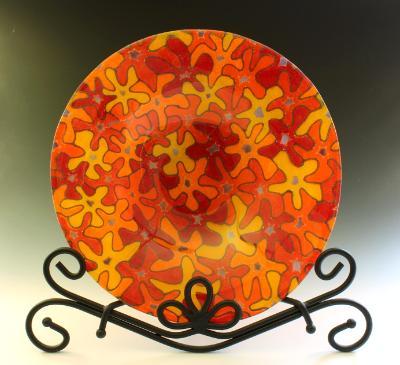Orange Bouquet Bowl #134