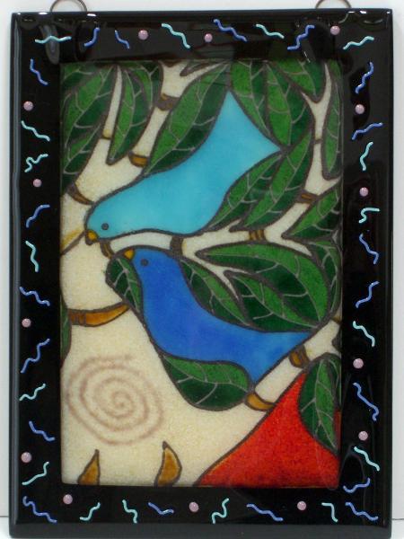 Blue Birds/Green Tree