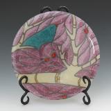 Purple Bird Plate #45