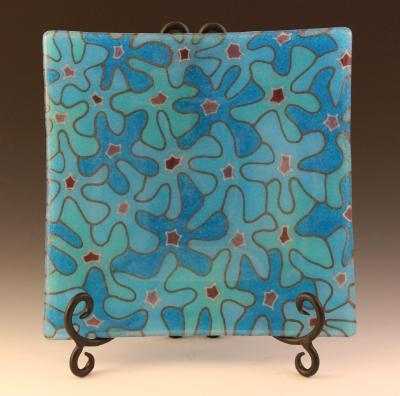 Blue Bouquet Plate #69