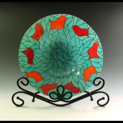 Bird Rim Bowl- Aqua
