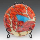 Red Bird Plate #37