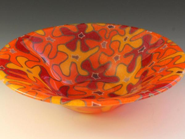 Orange Bouquet Bowl #55
