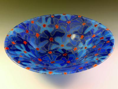 Blue Bouquet Bowl #105