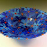 Blue Bouquet Bowl #105