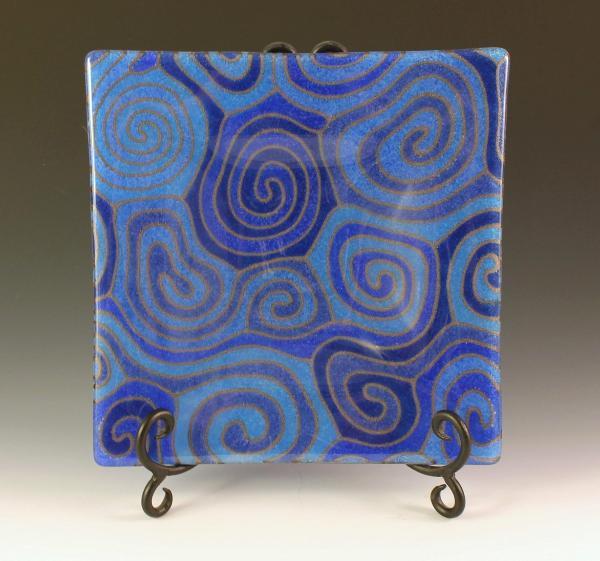 Blue Topo Plate #71
