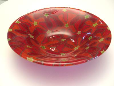 Red Bouquet Bowl #56