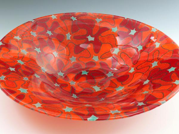 Red Bouquet Bowl #24