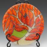 Orange Bird Plate #46