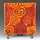 Orange Topo Plate #82